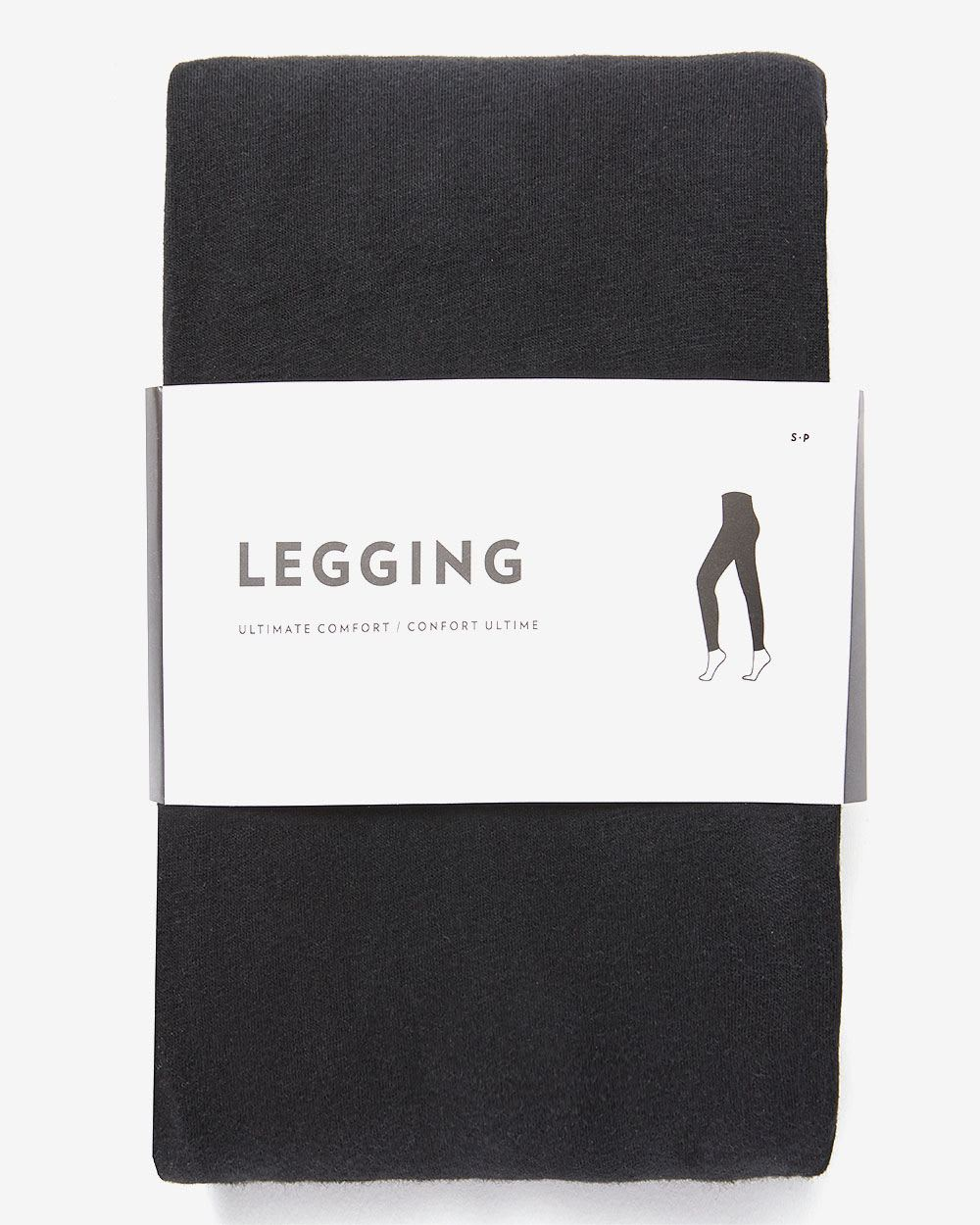 Cotton-Blend Black Leggings