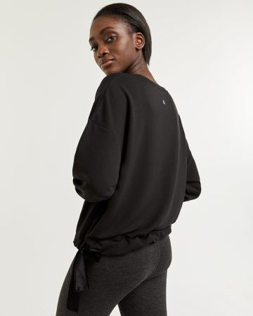 Hyba French Terry Sweatshirt with Velvet Ribbons