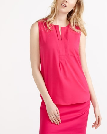 Willow & Thread Solid Sleeveless Blouse