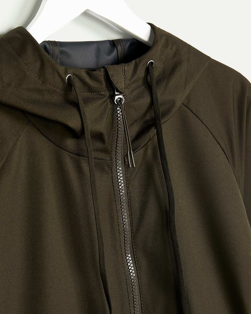 Water Repellent Long Hooded Jacket Hyba