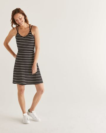 Stripe Fit & Flare Dress