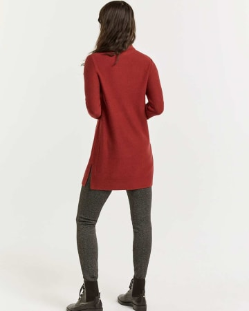 3/4 Sleeve Mock Neck Tunic