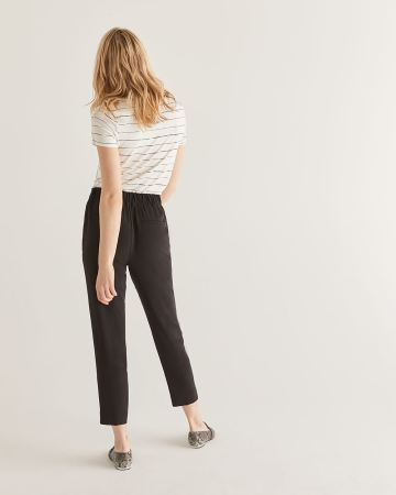 Slim Black Ankle Pants