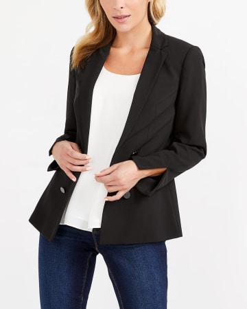 Open Blazer with Buttons