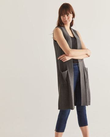 Sleeveless Duster Cardigan - Petite
