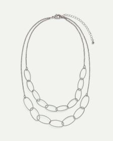 2-Row Large Links Short Necklace