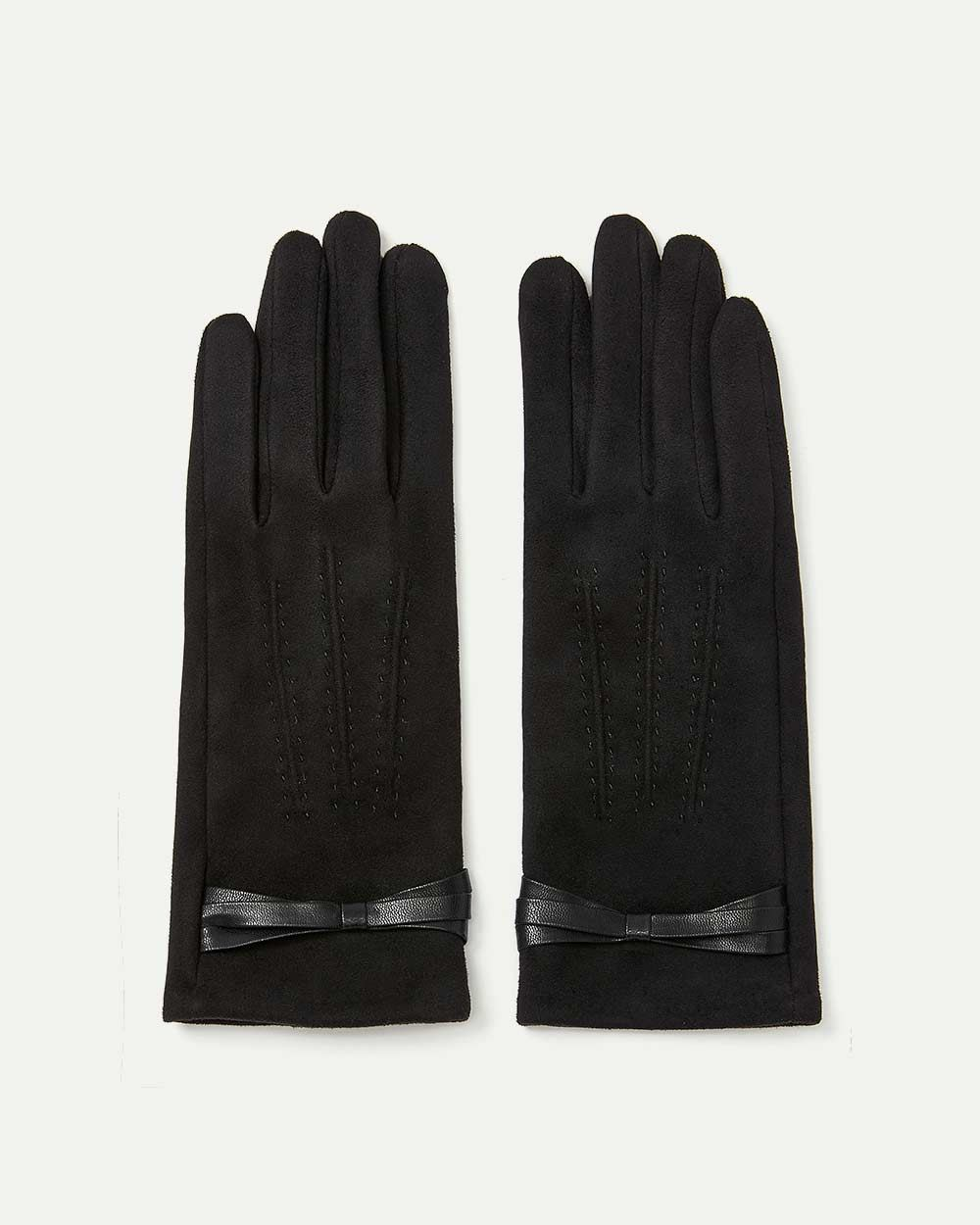 Touch Screen Faux Suede Gloves