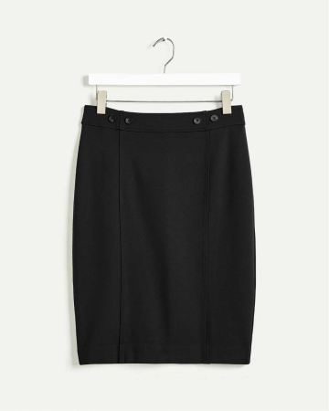Ponte de Roma Pencil Skirt with Decorative Buttons