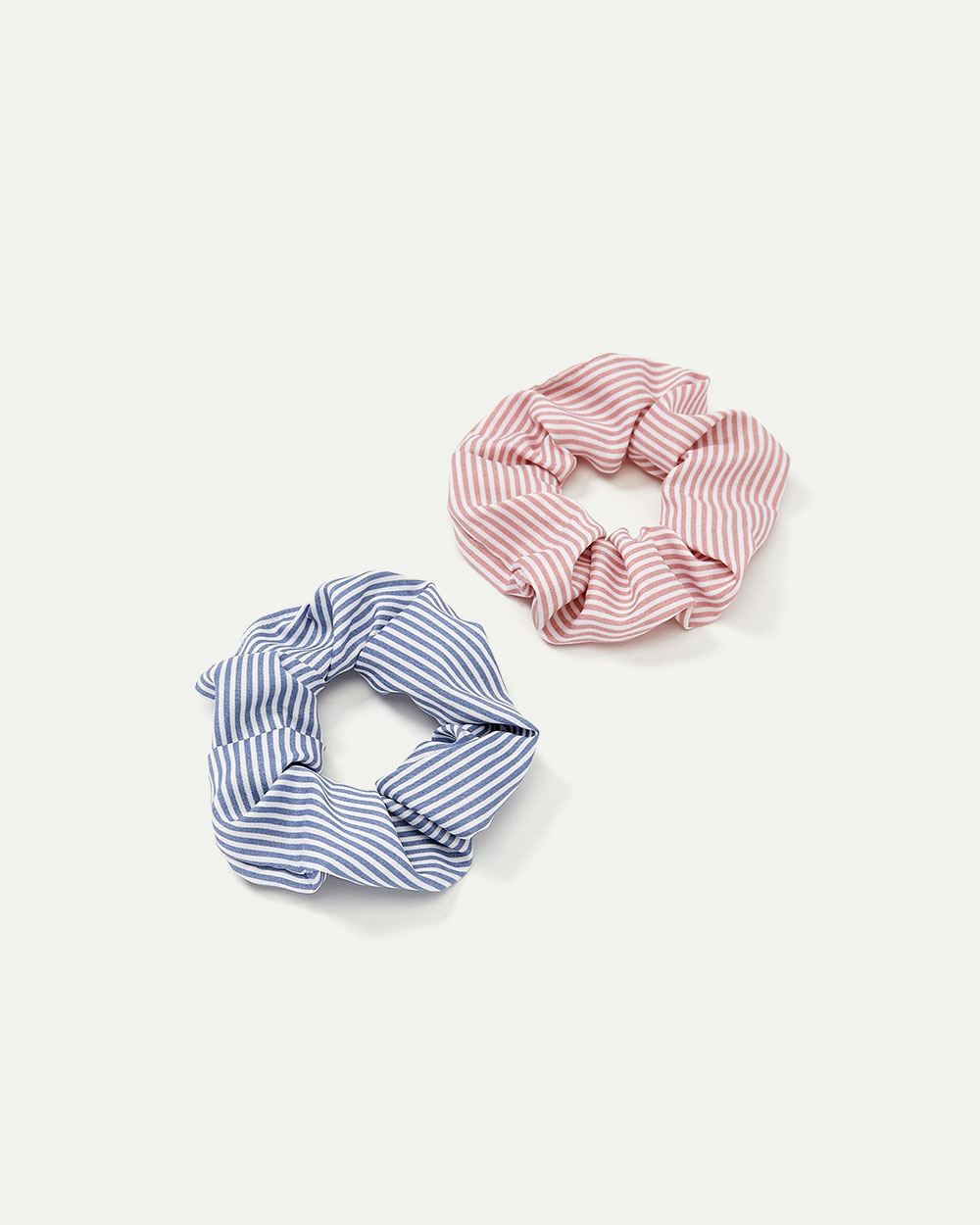 2-Pack Striped Scrunchies
