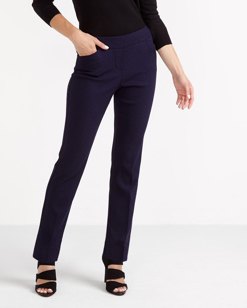 The Petite Iconic Printed Straight Leg Pants