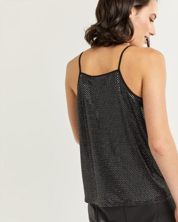 V-Neck Sequin Cami