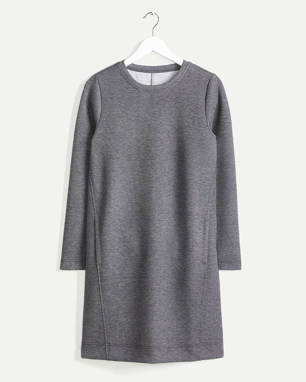Long Sleeve Crew Neck Scuba Dress Hyba