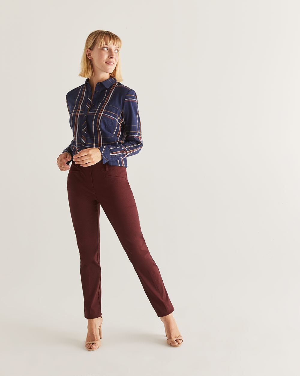 The Iconic Straight Leg Coloured Pull-On Pants - Petite
