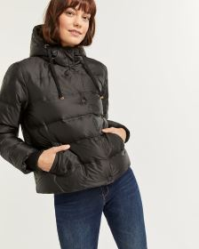 Bomber Quilted Winter Coat with Hood
