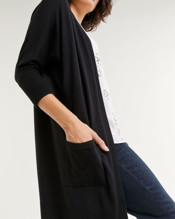Dolman Sleeve Cardigan with Pockets - Petite