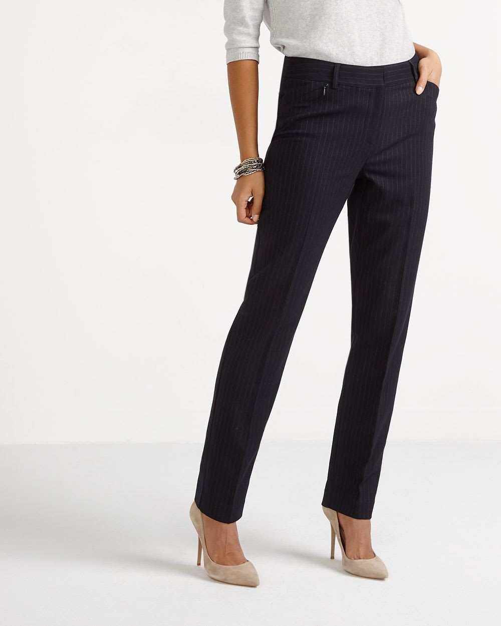 The New Classic Straight Leg Pinstripe Pants