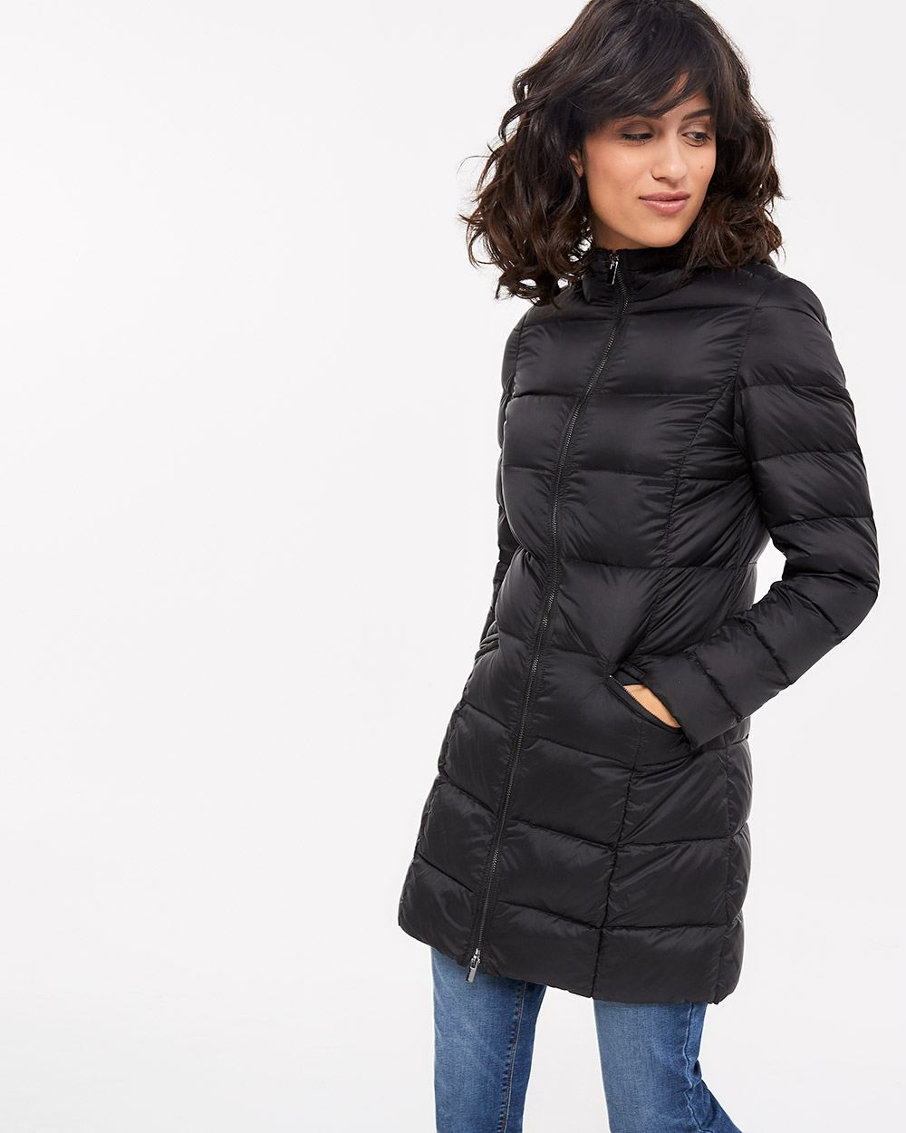 Down Hooded Packable Coat