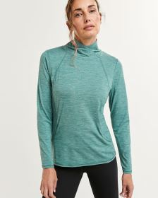 Long Sleeve Mock Neck Top Ultra Soft Hyba