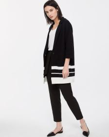 Drop Shoulder Long Cardigan