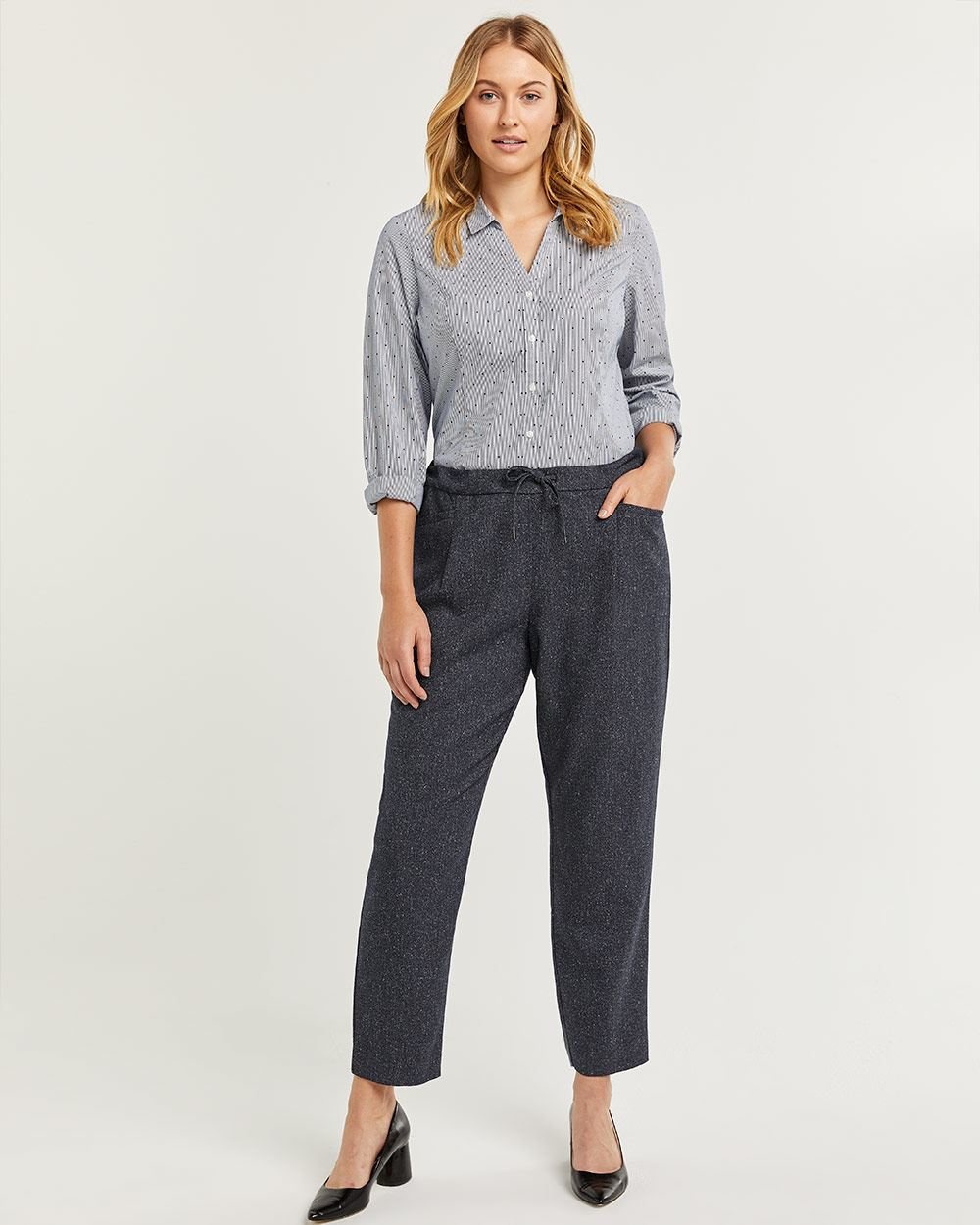 Nep Yarn Jogger Pull On Pants