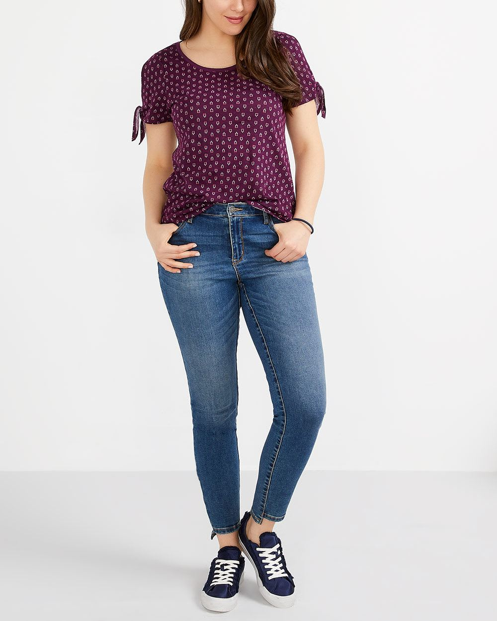 Short Sleeve Printed Top