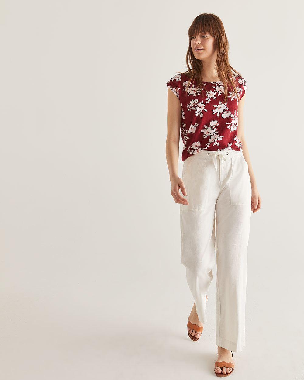 616979e87631a Linen-Blend Wide Leg Pants - Petite | Petite | Reitmans