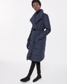 Waterfall Collar Down Coat