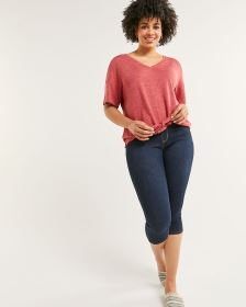 Pull On Capri Jeans The Original Comfort