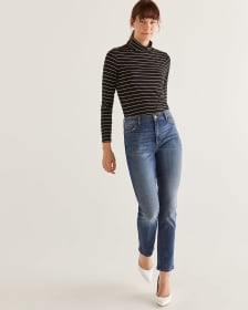 High Rise Vintage Slim Leg Jeans - Tall