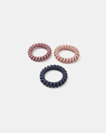 Set of 3 Spiral Hair Ties