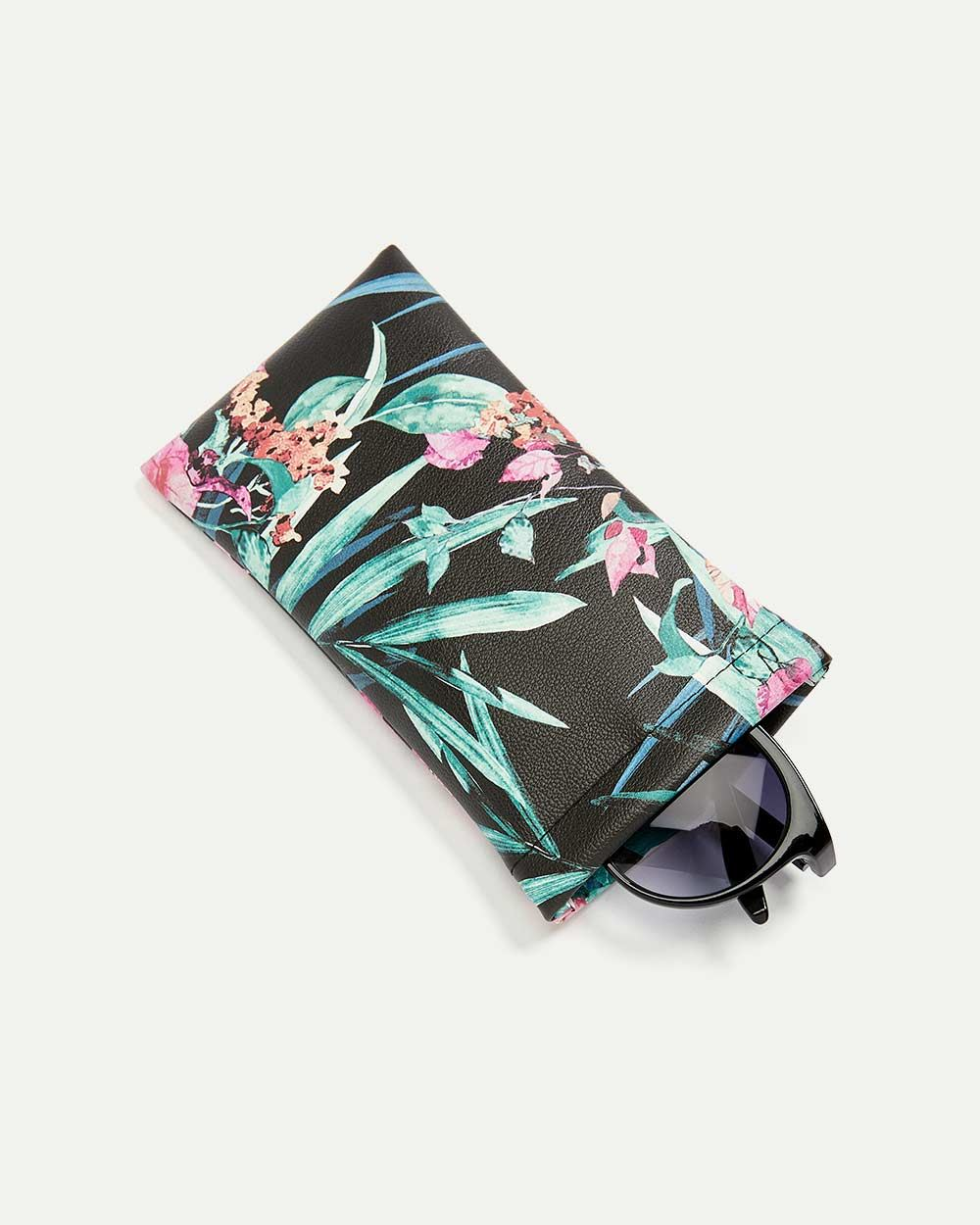 Dark Tropical Sunglasses Case