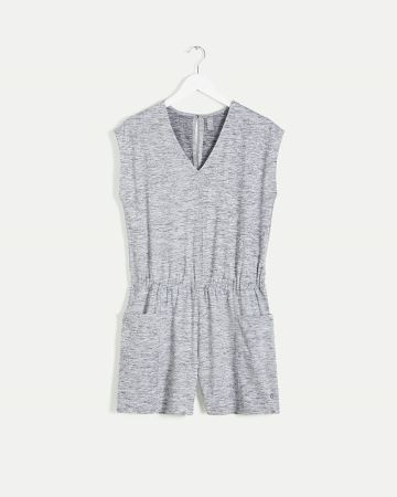 Short Sleeve Romper with Pockets Ultra Soft Hyba