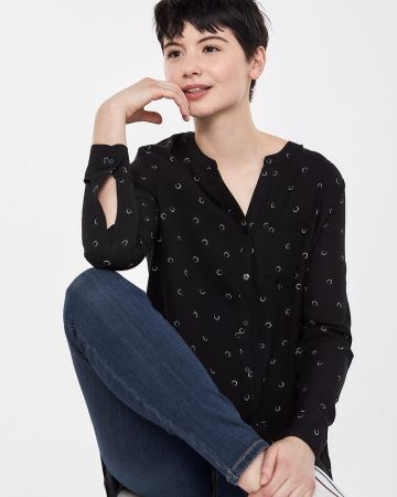 2-tier Printed Blouse
