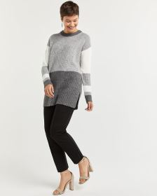 Colorblock Patchwork Sweater