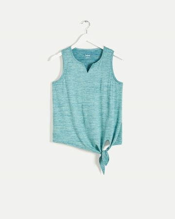 V-Neck Tank with Tie Front Ultra Soft Hyba