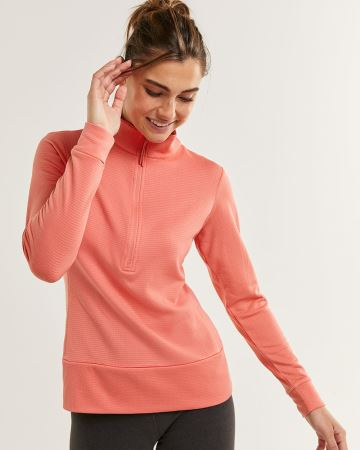 Long Sleeve Mock Neck Thermal Top Hyba