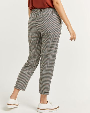 Houndstooth Pull On Straight Leg Pants - Tall