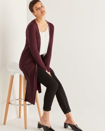 Long Sleeve Rib Cardigan