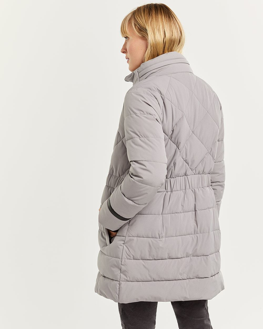Quilted Winter Coat with Hidden Hood