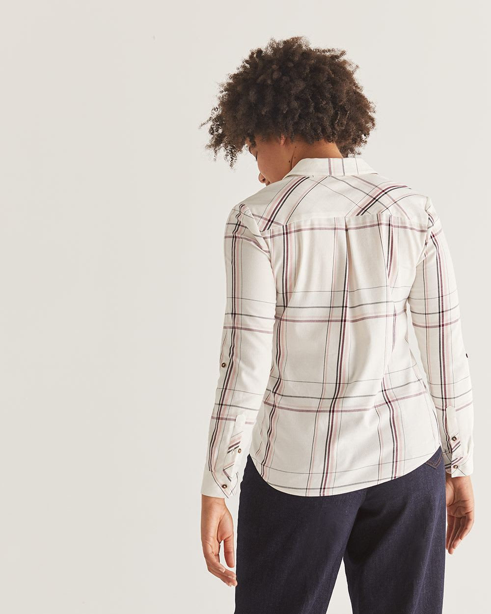 Plaid Shirt with Pocket - Petite