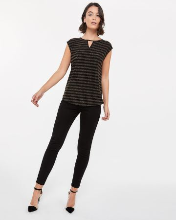 Cap Sleeve Shimmer Top