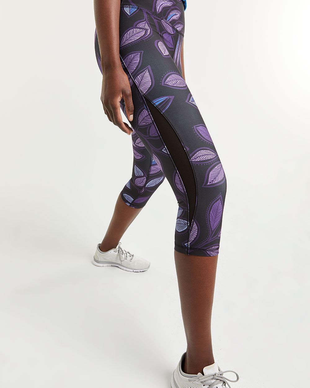 Printed Capri Leggings with Mesh Hyba
