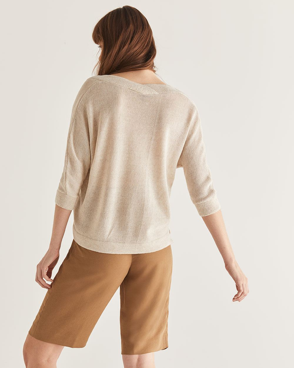 Wide V-Neck Sweater Willow & Thread