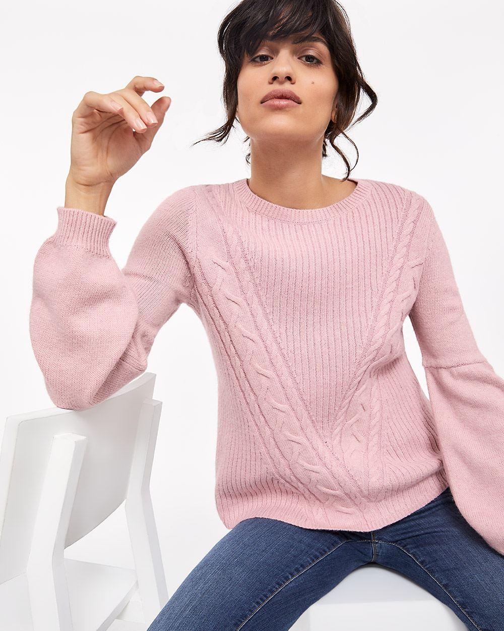 f863d39e0237ca Balloon Sleeve Cable Knit Sweater | Regular | Reitmans