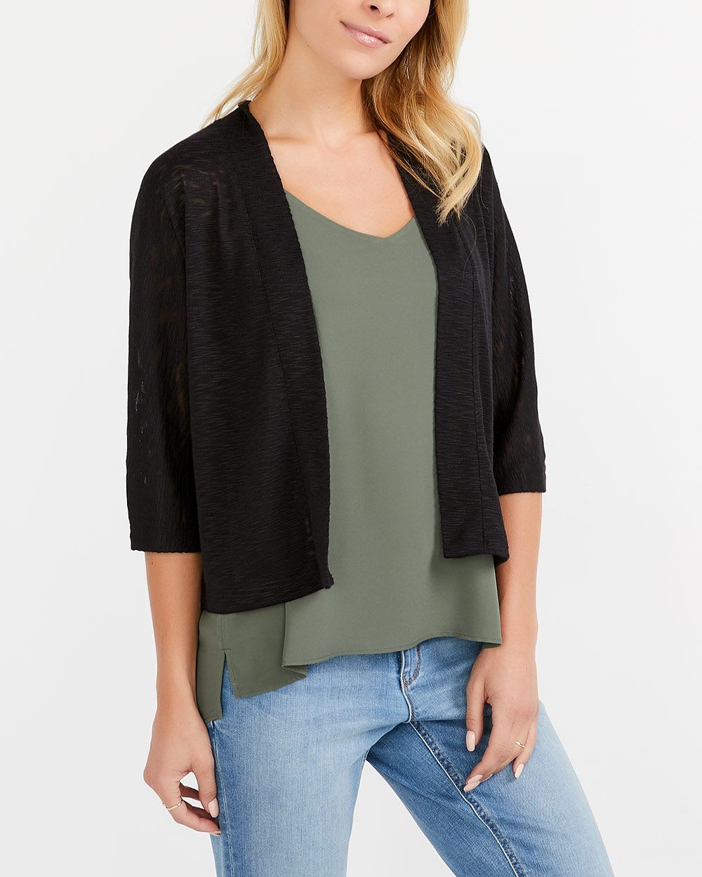 Open Cardigan with Dolman Sleeves