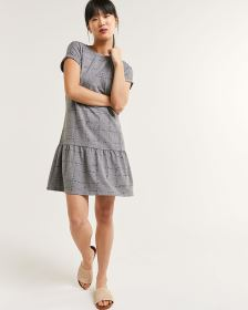 Boat Neck French Terry Shift Dress