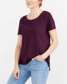 T-shirt with Eyelets at the Back
