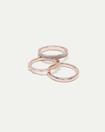 3-Piece Textured Rings