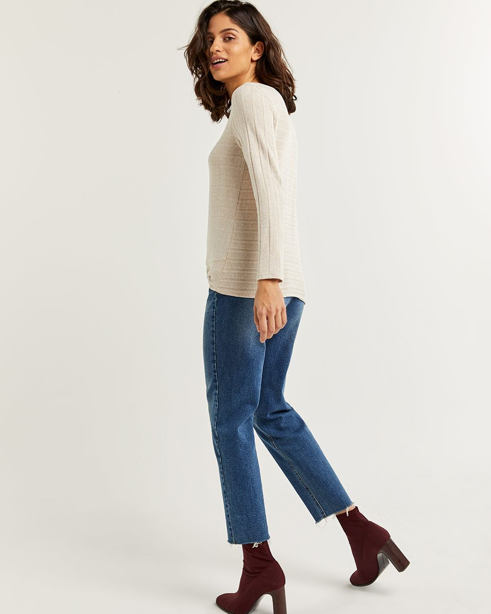 Long Sleeve Tee with Front Knot