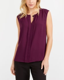 Willow & Thread Solid Pleated Blouse